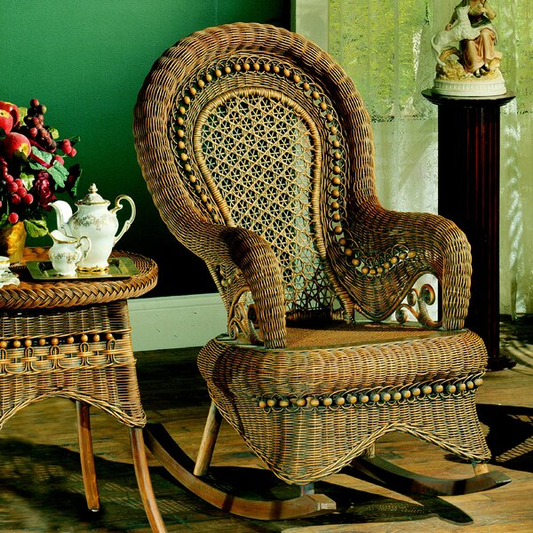 Country Brownwash Rocking Chair by Yesteryear Wicker