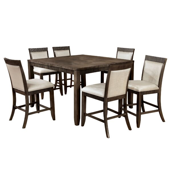 #2 Gayet 7 Piece Dining Set By Hokku Designs Great Reviews
