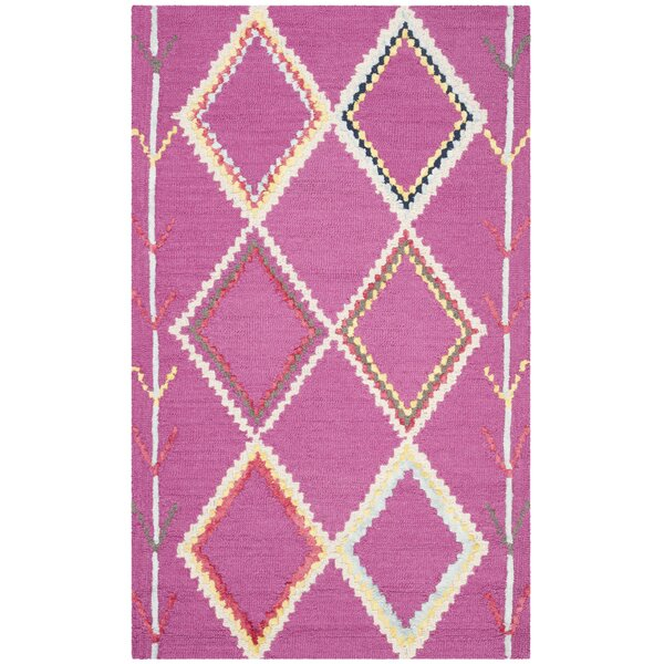 Carolwood Hand Tufted Wool Fuchsia Area Rug by Bungalow Rose