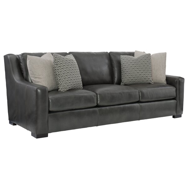 Online Shopping Quality Germain Leather Sofa by Bernhardt by Bernhardt