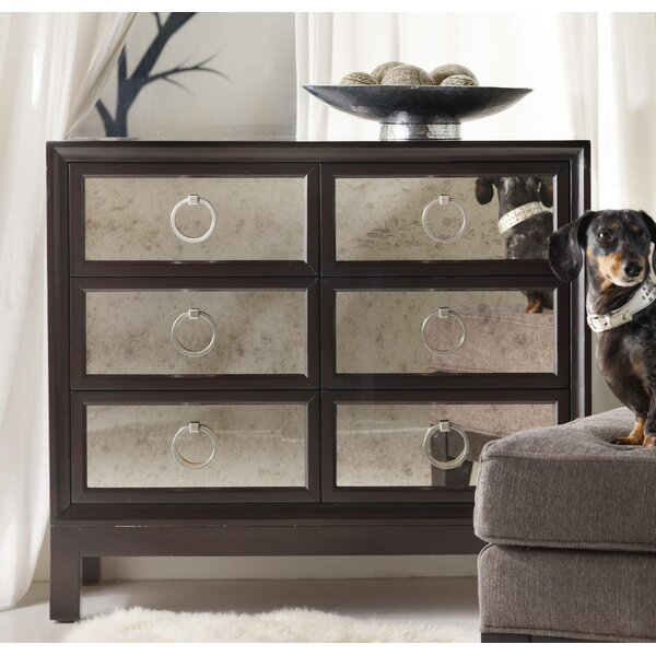 Melange 6 Drawer Mirrored Front Chest by Hooker Furniture