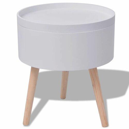Tabletttisch Desrochers   Wohnzimmer > Tische > Weitere Tische   Weiß   Mdf   ModernMoments