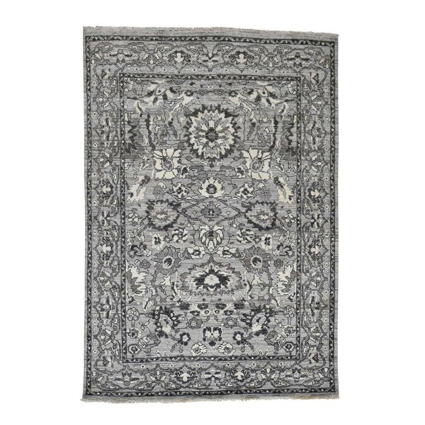 One-of-a-Kind Newcastle with Natural Oriental Hand-Knotted Gray Area Rug by Astoria Grand