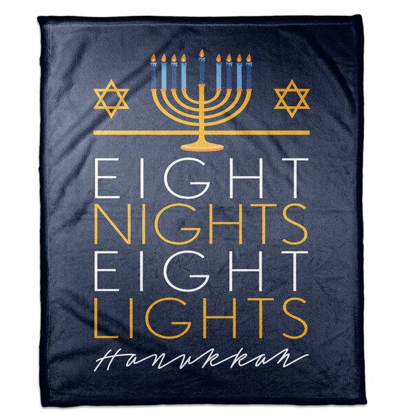 Tunnel Eight Nights Eight Lights Blanket by The Holiday Aisle