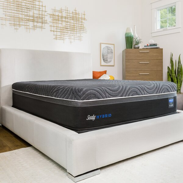 Hybrid™ Premium Silver Chill Cooling 14 Firm Mattress and 5 Box Spring by Sealy