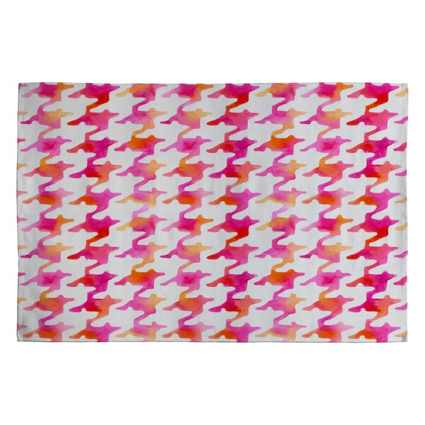 Betsy Olmsted Watercolor Houndstooth Area Rug by Deny Designs