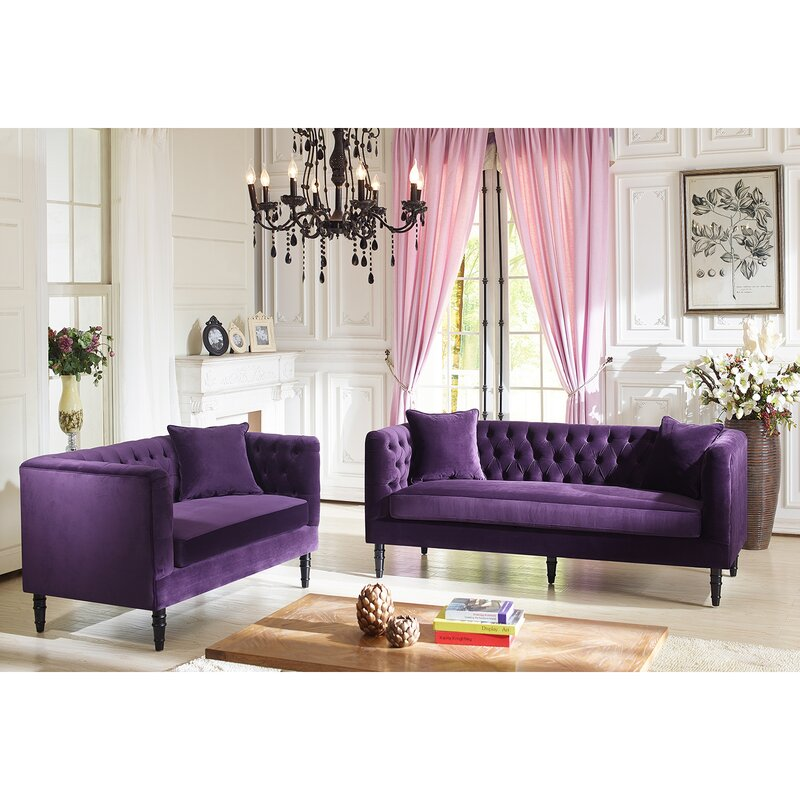 Latitude Run Yates 2 Piece Living Room Set | Wayfair