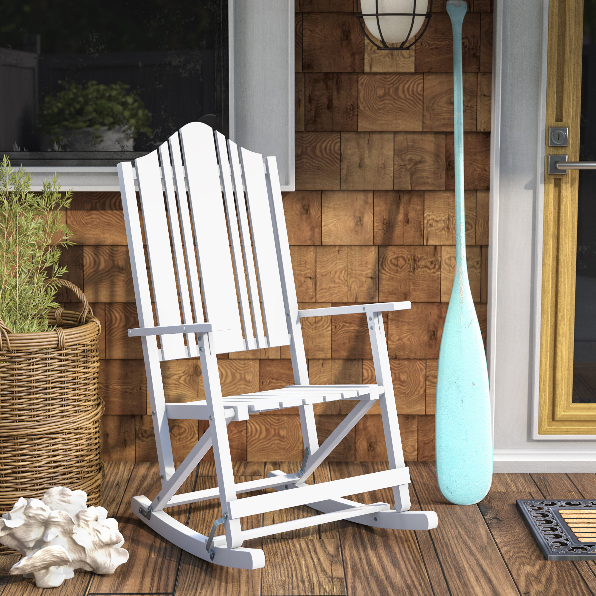 Breakwater Bay Pearmain Folding Rocking Chair & Reviews