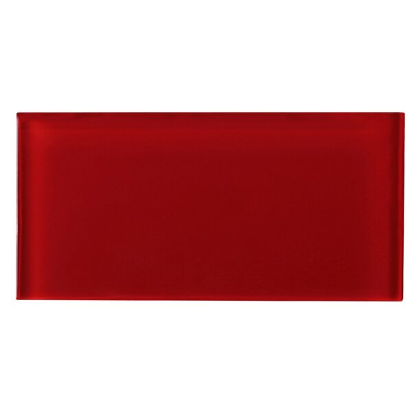 3 x 6 Glass Tile in Red by Multile