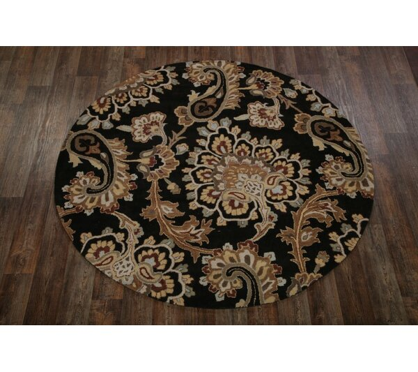 One-of-a-Kind Bovill Agra Oriental Hand-Tufted Wool Brown/Black Area Rug by Canora Grey