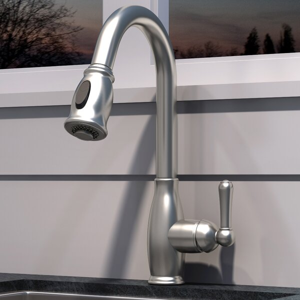 Pull Down Single Handle Kitchen Faucet By Olympia Faucets