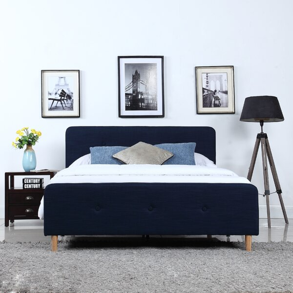 Glasgow Low Profile Upholstered Platform Bed by Wrought Studio