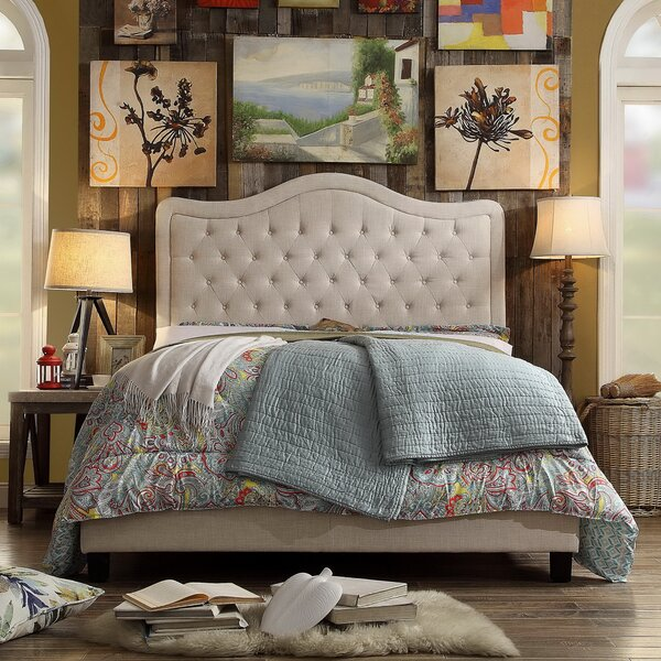 Turin Upholstered Panel Bed by Darby Home Co