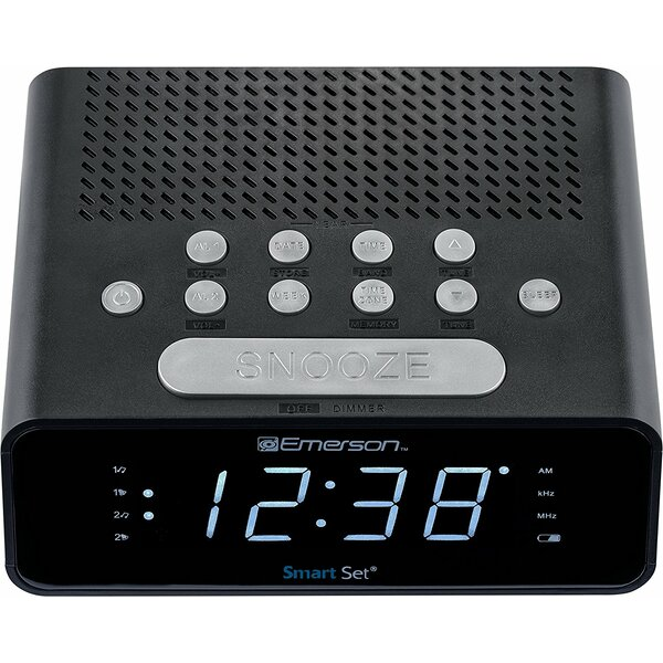 SmartSet Alarm Radio Desktop Clock by Emerson Radio Corp.