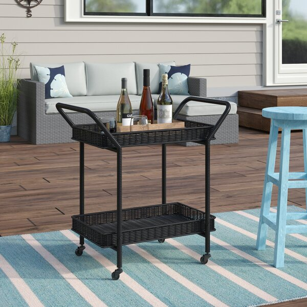 Petherton Bar Serving Cart By Beachcrest Home by Beachcrest Home Cheap
