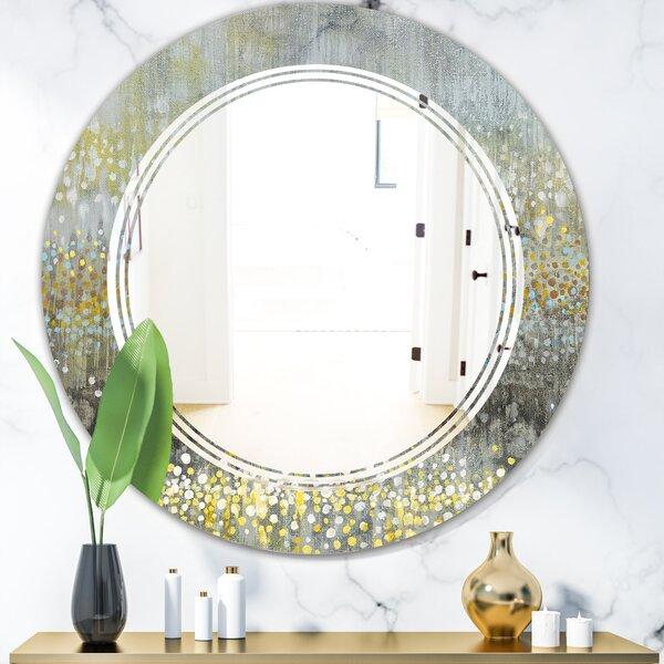 Triple C Rain Abstract III Modern Frameless Wall Mirror