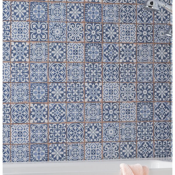 Faventie Azul 13 x 13 Ceramic Field Tile in Blue by EliteTile