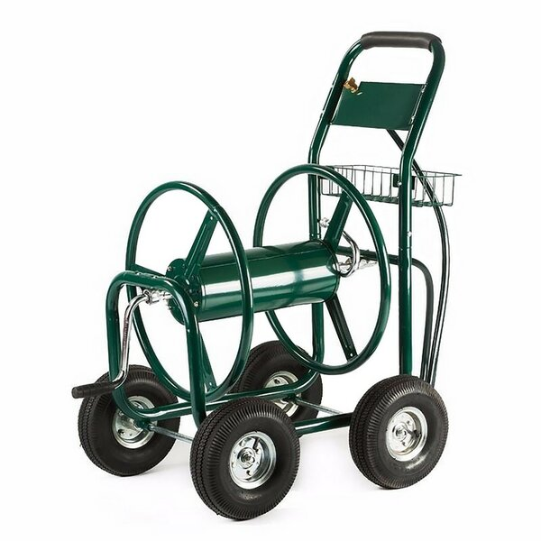 Heavy Duty Industrial Yard Garden Landscape Metal Hose Reel Cart by ALEKO