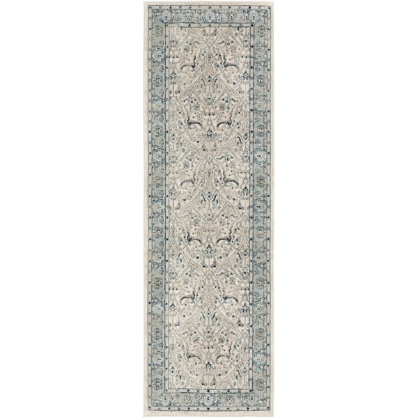 Laguna Distressed Gray/Teal Area Rug by Ophelia & Co.