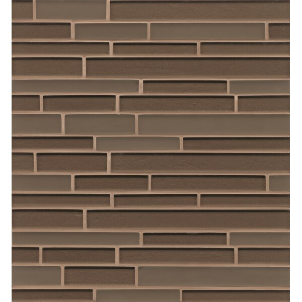 Remy Glass Mosaic Random Interlocking Tile in Brown by Grayson Martin