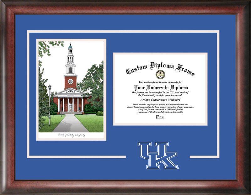 Campus Images University of Kentucky Wildcats Spirit Graduate Frame