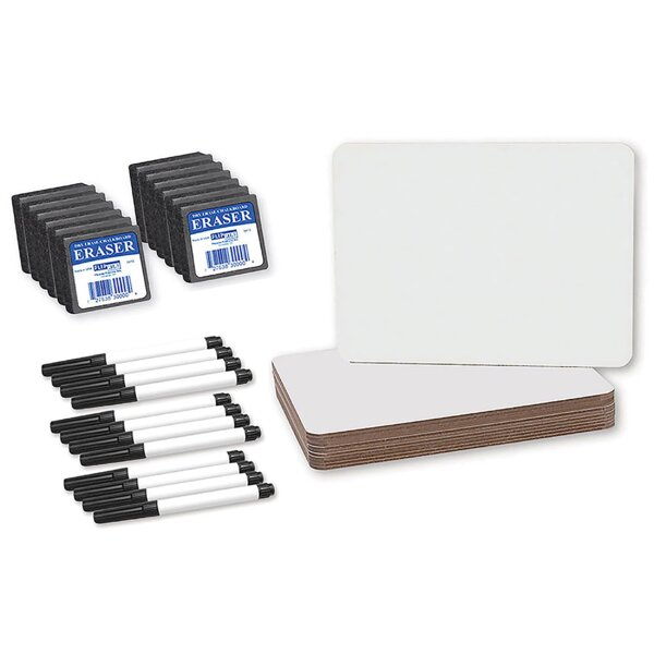 Dry Erase Lap Board Whiteboard, 9 x 12 by Flipside Products