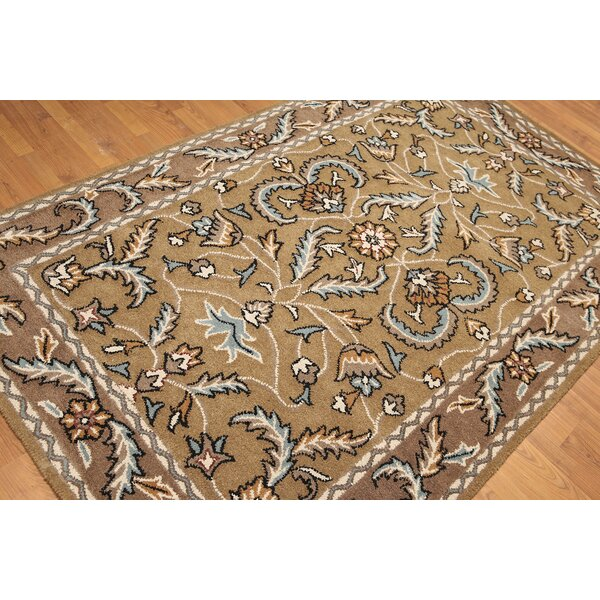 One-of-a-Kind Reich Hand-Knotted Wool Gray/Aqua Area Rug by Astoria Grand