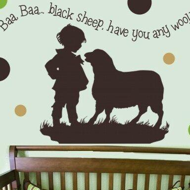 Baa Baa Black Sheep - Boy Wall Decal by Alphabet Garden Designs