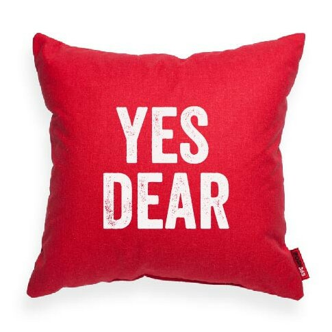 Expressive Yes Dear Decorative Throw Pillow by Posh365