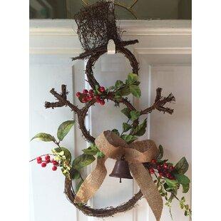 Charmant Grapevine Snowman Door Wreath