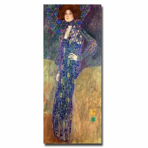 Emilie Floege by Gustav Klimt Painting Print on Canvas by Trademark Fine Art