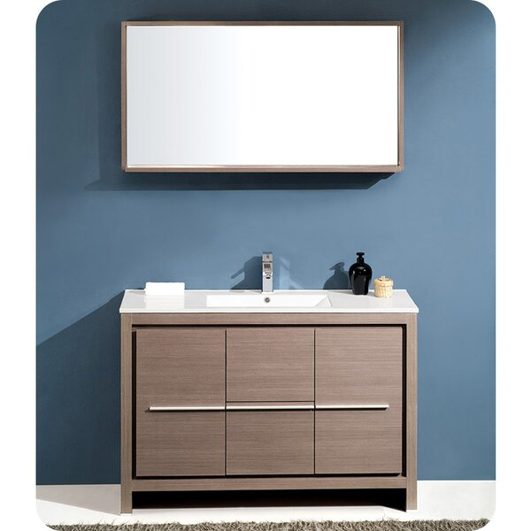 Allier Modern 48 Single Bathroom Vanity Set with Mirror by Fresca