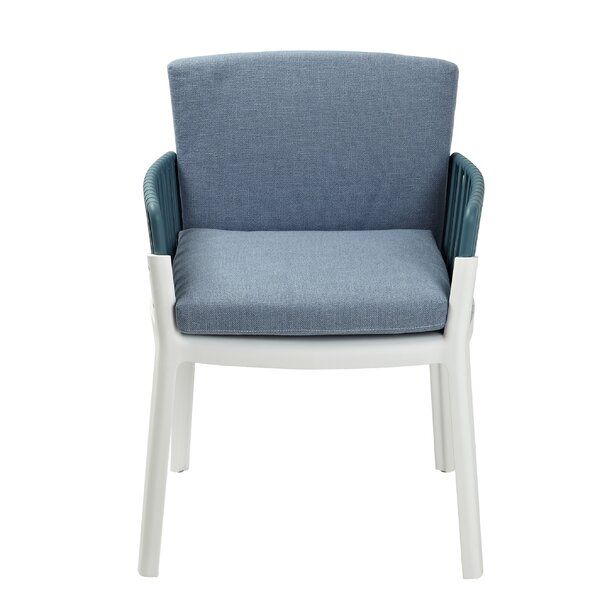 Vaughn Unpholstered Arm Chair in Blue (Set of 2) by Brayden Studio Brayden Studio
