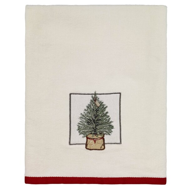 Hathaway Farmhouse Holiday Cotton Bath Towel by The Holiday Aisle