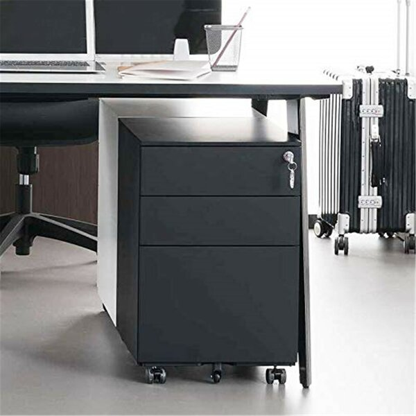 Ahmadou 3-Drawer Mobile Vertical Filing Cabinet