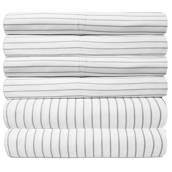 Newt Egyptian Quality Pinstripe Sheet Set by The Twillery Co.