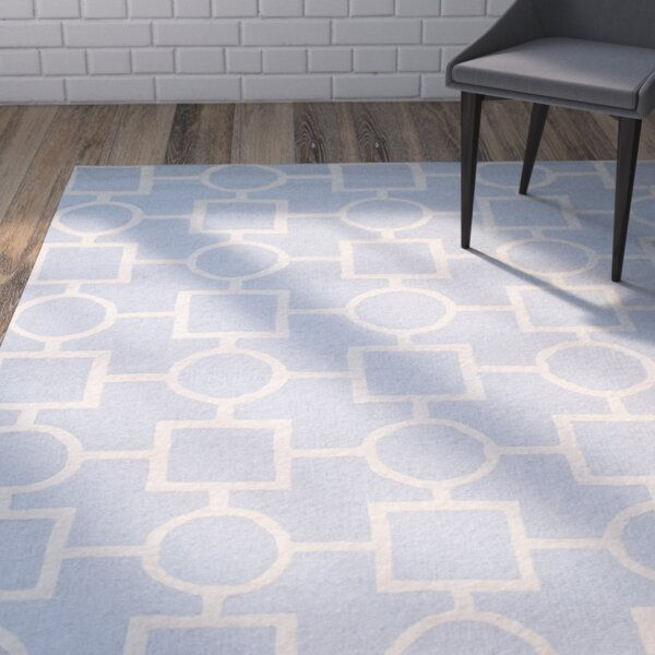 Martins Light Blue / Ivory Area Rug by Wrought Studio