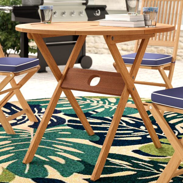 Elsmere Solid Wood Bistro Table By Beachcrest Home