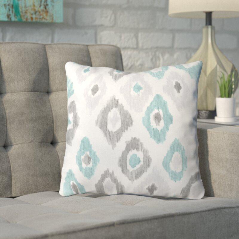 Mercury Row Cletus Quiet Ikat Outdoor Throw Pillow Wayfair