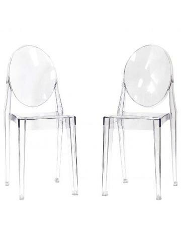 Hecker Crystal Dining Chair (Set of 2) by Mercer41