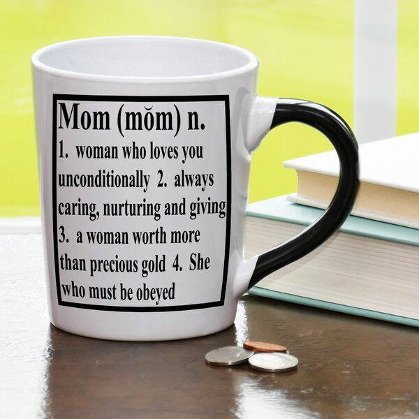 20 oz Mom Definition Stoneware Coffee Mug by New Morning Imports