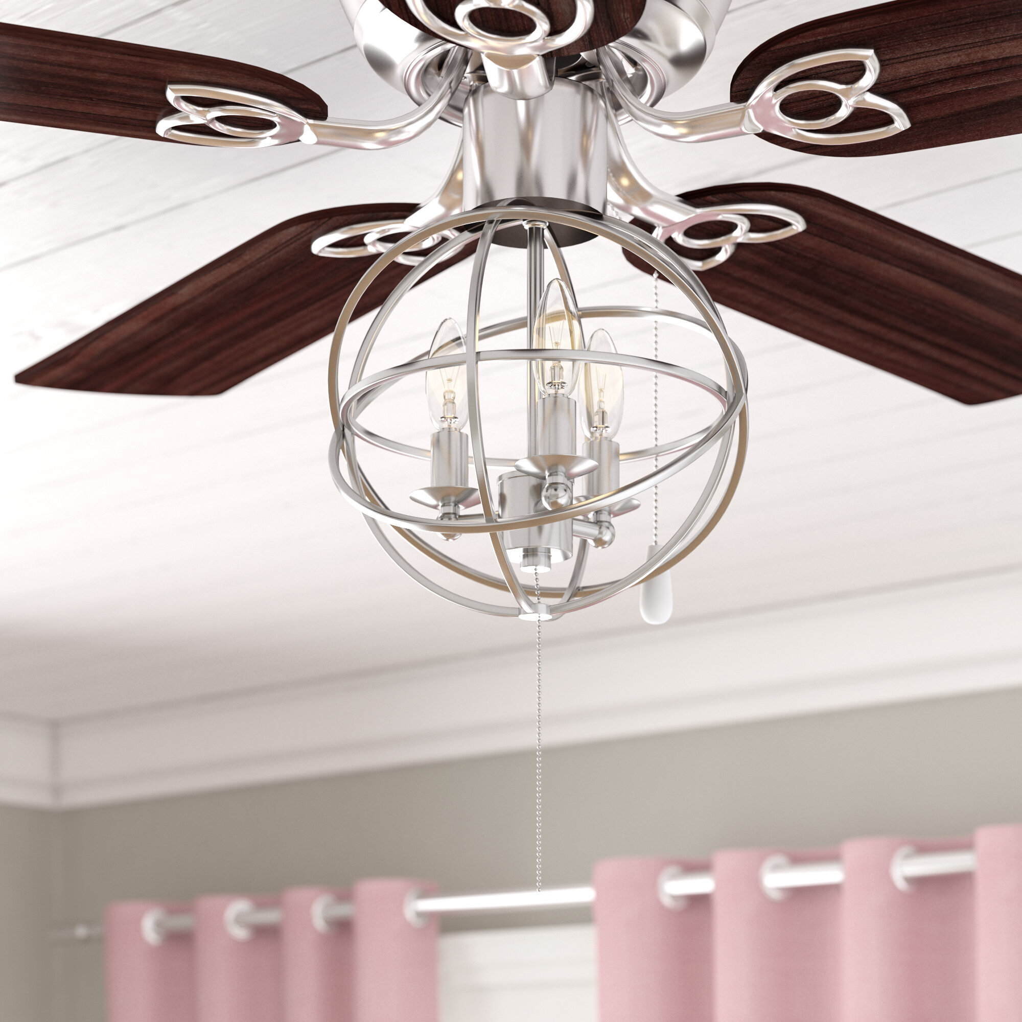 Gracie Oaks 3 Light Led Ceiling Fan Globe Light Kit Reviews Wayfair