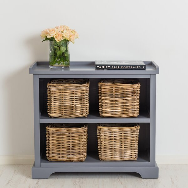Waltman Solid Wood Standard Bookcase with Baskets by Ophelia & Co.