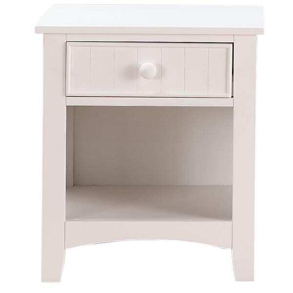 Haug 1 Drawer Nightstand by August Grove August Grove