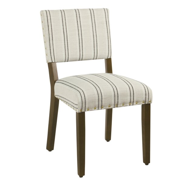 Check Price Camilo Stripe Upholstered Dining Chair (Set Of 2)