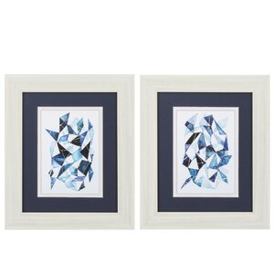 'Chrysalis' 2 Piece Framed Graphic Art Set by Propac Images