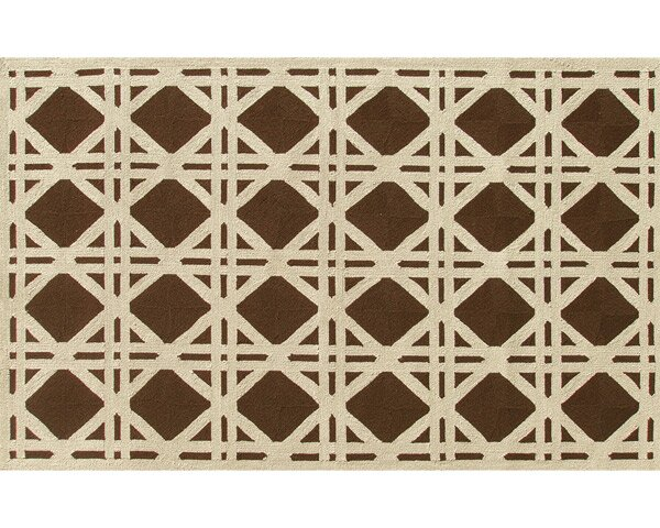 Rockville Hand-Hooked Brown/Ivory Indoor/Outdoor Area Rug by Threadbind