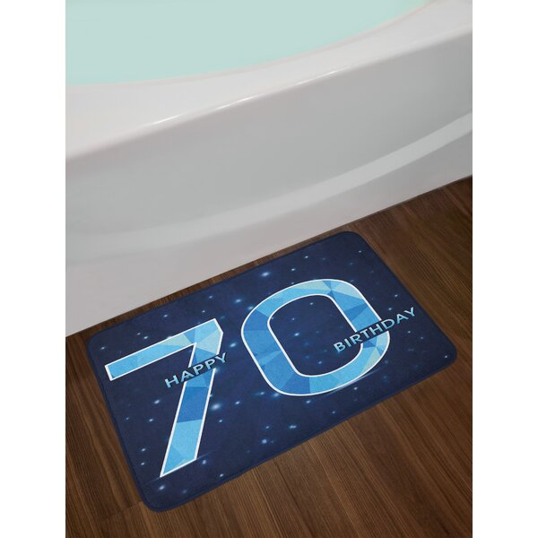 70th Birthday Bath Rug by East Urban Home