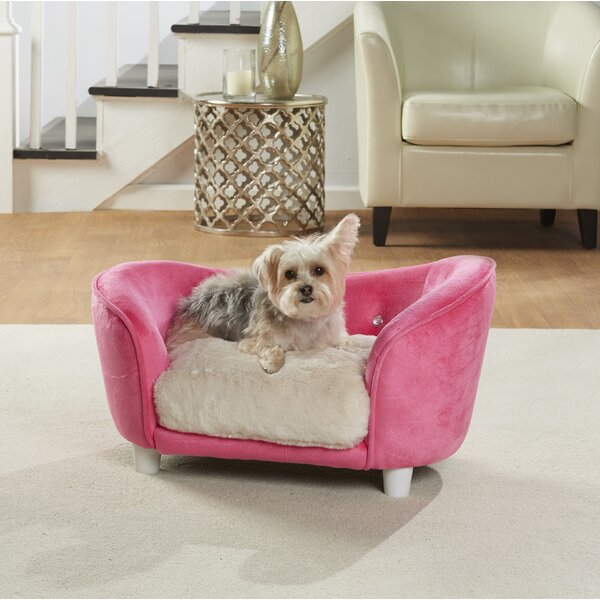 Lorna Ultra Plush Snuggle Dog Sofa with Cushion by Tucker Murphy Pet