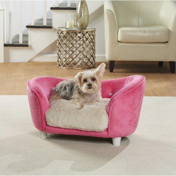 Lorna Ultra Plush Snuggle Dog Sofa with Cushion by Tucker Murphy Pet